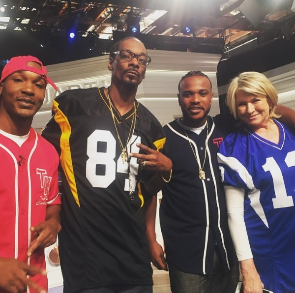 On set VH1 The Martha & Snoop Show