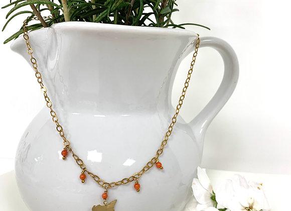 Collana mini Sicilia argento dorato