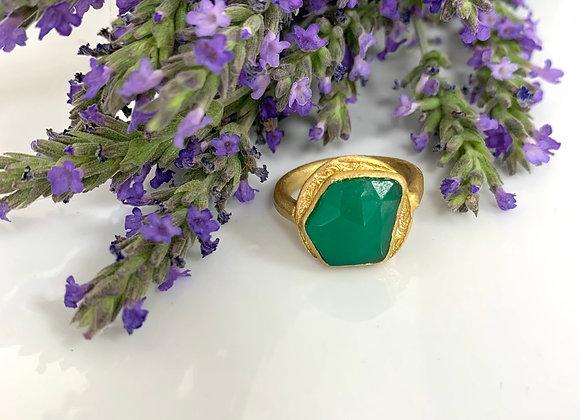 Anello agata verde texture