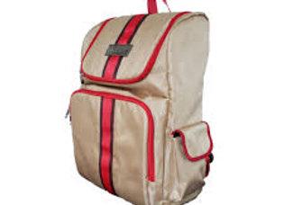 Vincent Barber Backpack (Tan & Red Striped)
