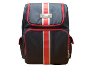 Vincent Barber Backpack (Black & Red Striped)