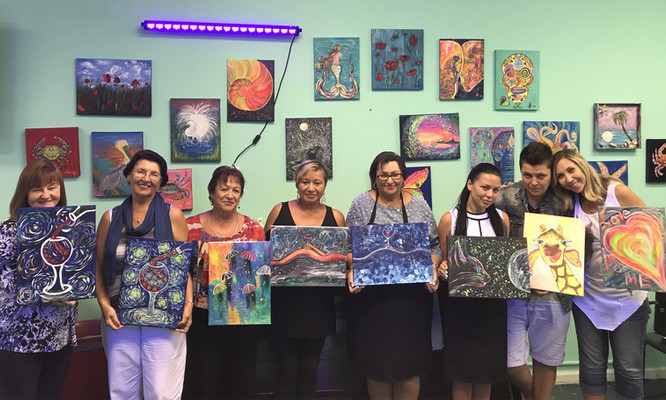 Wine and Paint and Glow
