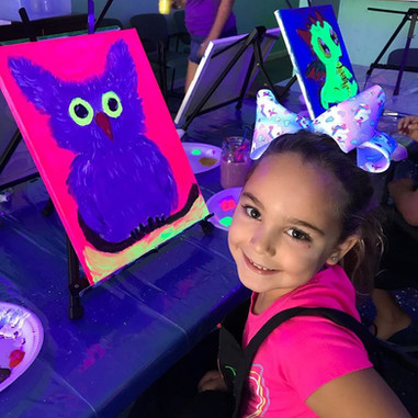 Paint Party Class with Glow