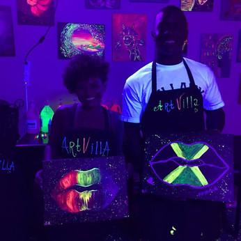 Black Light Paint & Date