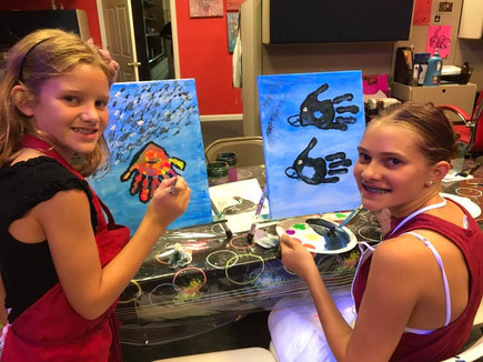 Birthday Paint and Glow Party