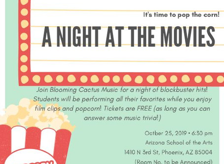 Upcoming Event: A Night at the Movies