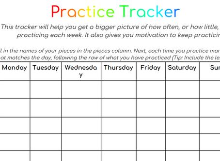 Freebie: Practice Tracker