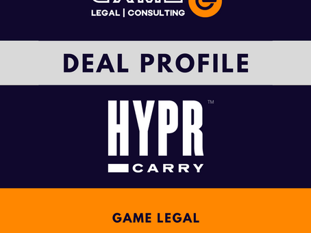 Game Legal advises HYPR CARRY on investment from Nations Ventures