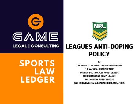 Sports Law Ledger - Monday 1 June 2020