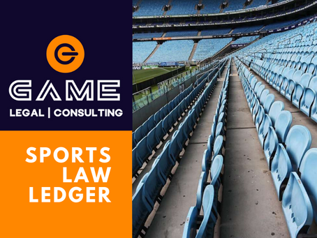 Sports Law Ledger - Monday 6 April 2020
