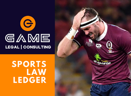 Sports Law Ledger - Monday 25 May 2020