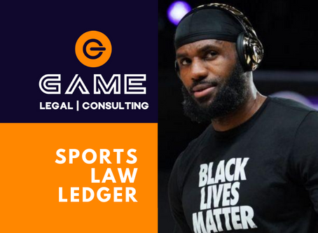 Sports Law Ledger - Monday 31 August 2020