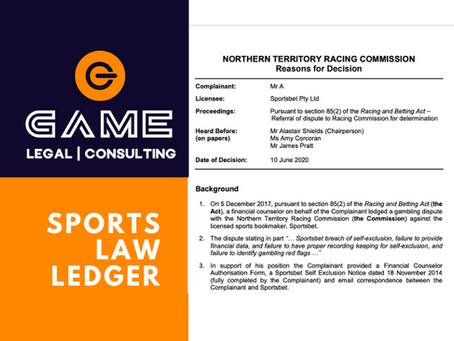 Sports Law Ledger - Monday 22 June 2020