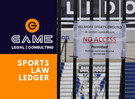 Sports Law Ledger - Monday 20 April 2020