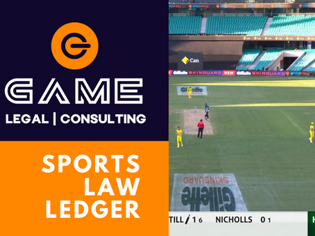 Sports Law Ledger - Monday 23 March 2020