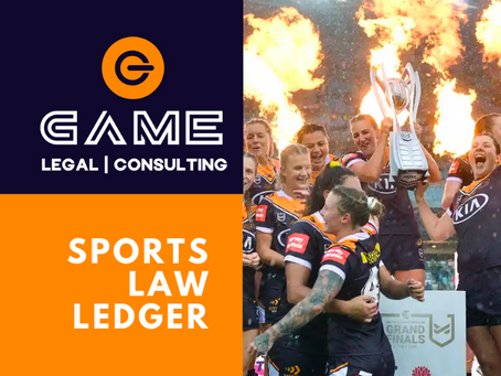 Sports Law Ledger - Monday 26 October 2020