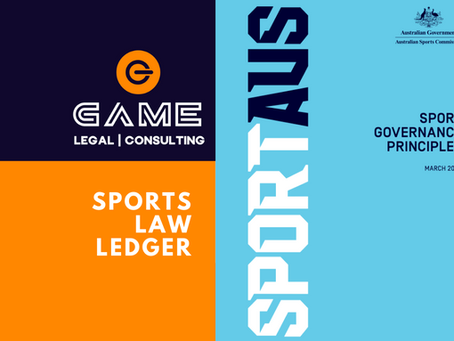 Sports Law Ledger - Monday 10 August 2020