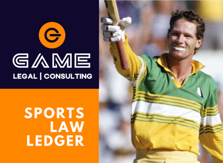 Sports Law Ledger - Monday 28 September 2020