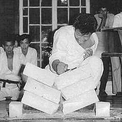 An old photo of Shuseki Shihan Frank Woo