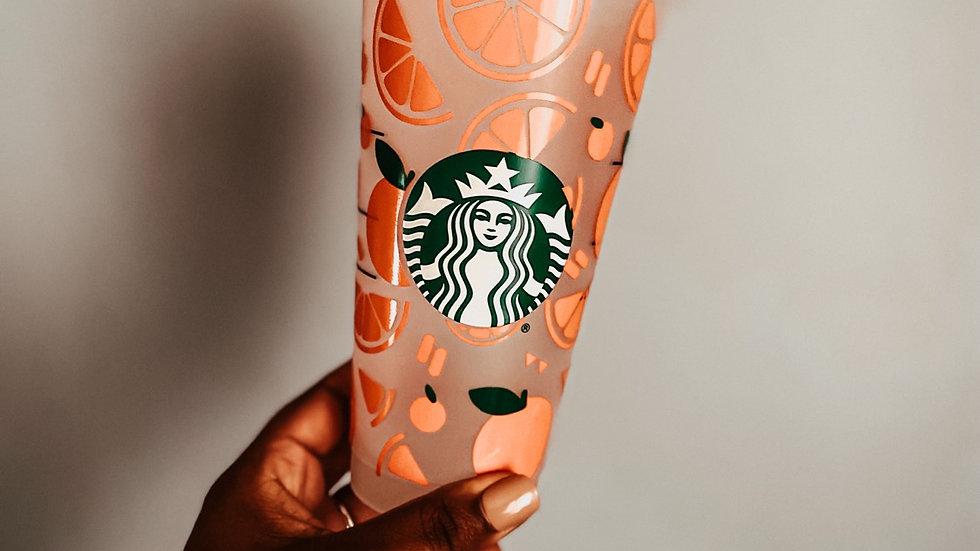 Citrus Starbucks Venti Cup