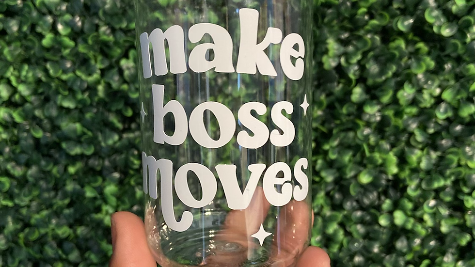 Make Boss Moves beer can cup (Plastic)