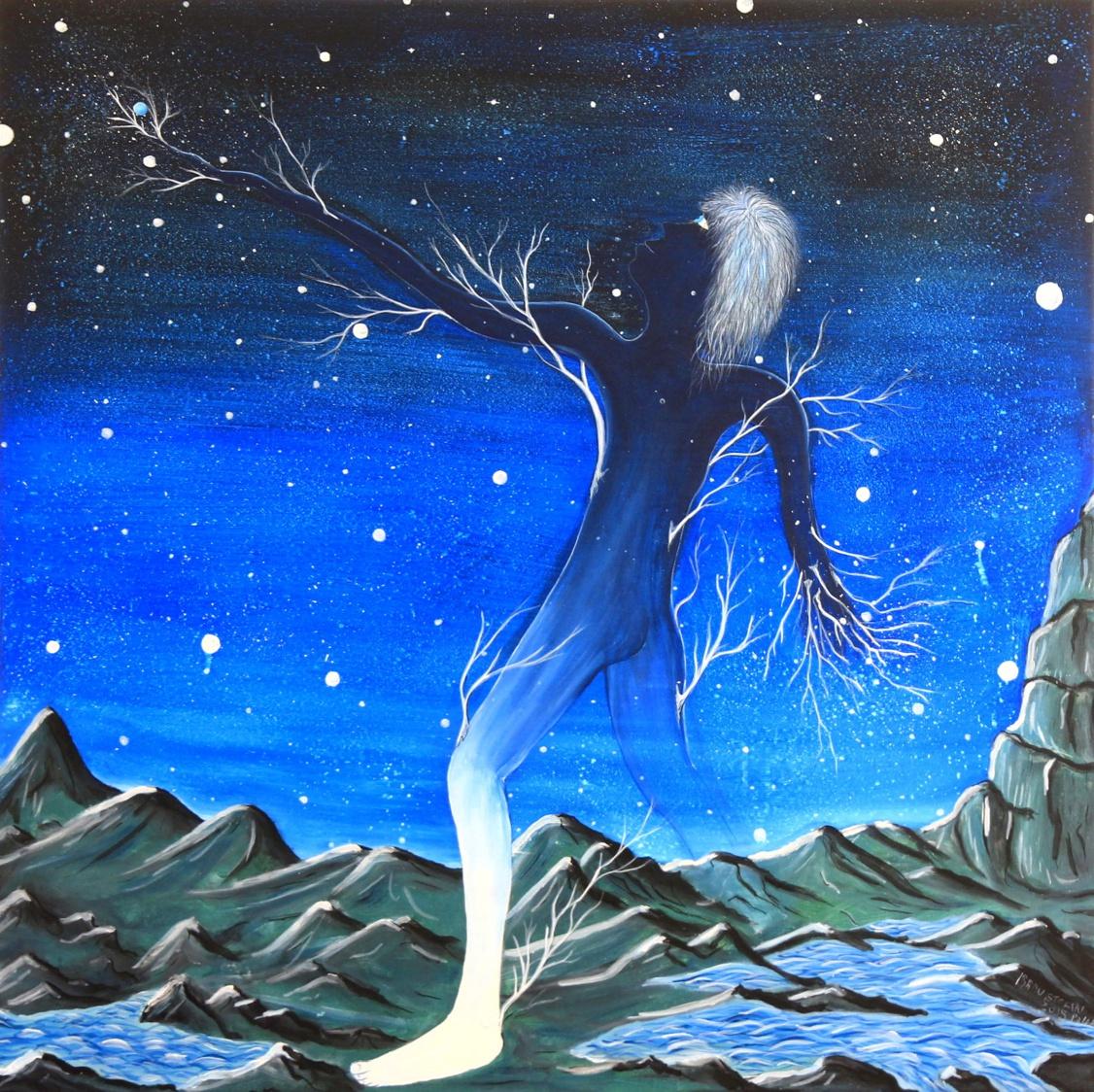 -L'âme de la galaxie-The soul of the Galaxy- peinture acrylique-Radu Stefan Poleac-artist's studioJ