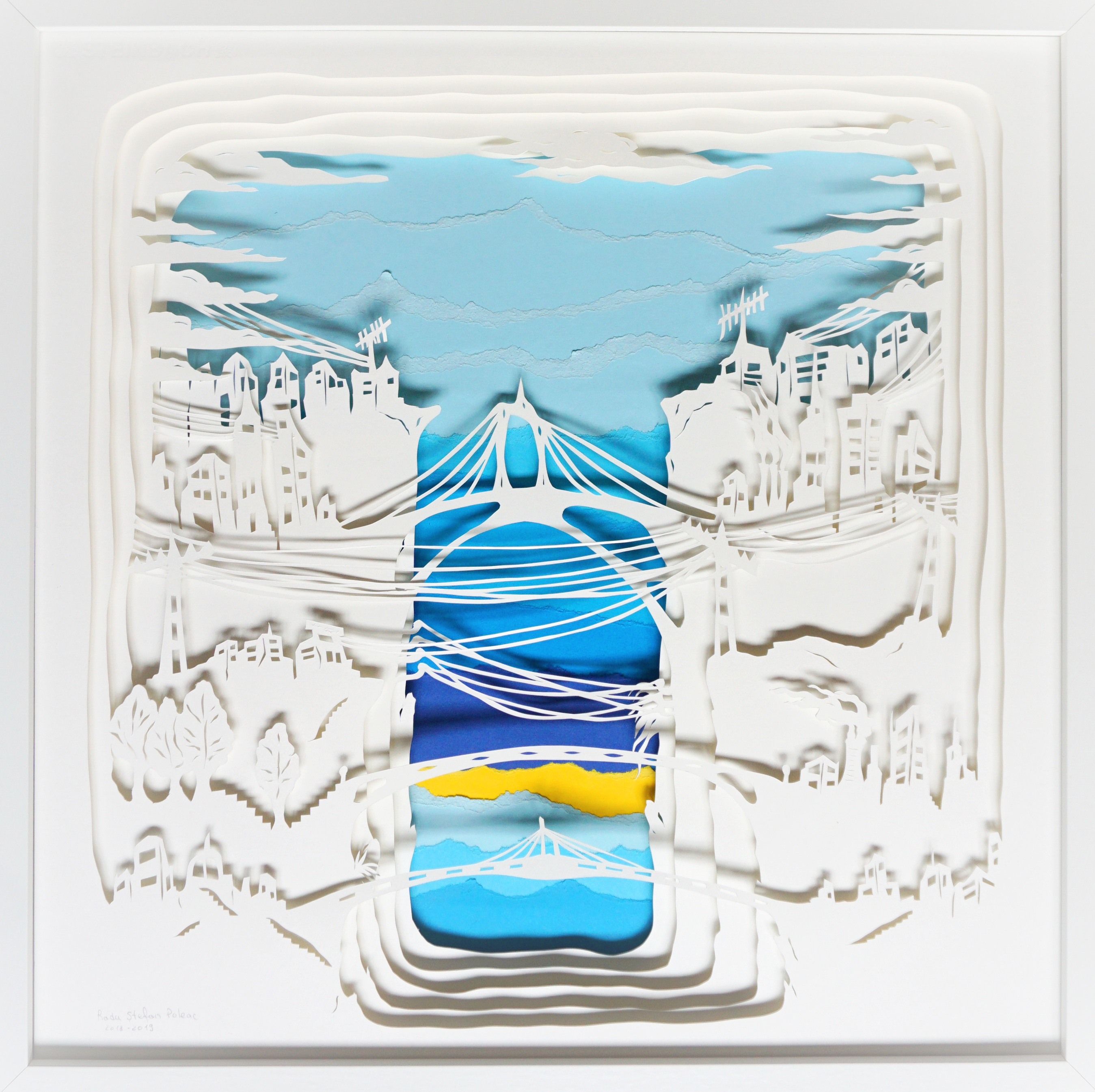 Ponts, Cut out 3D -Papercut, light box,