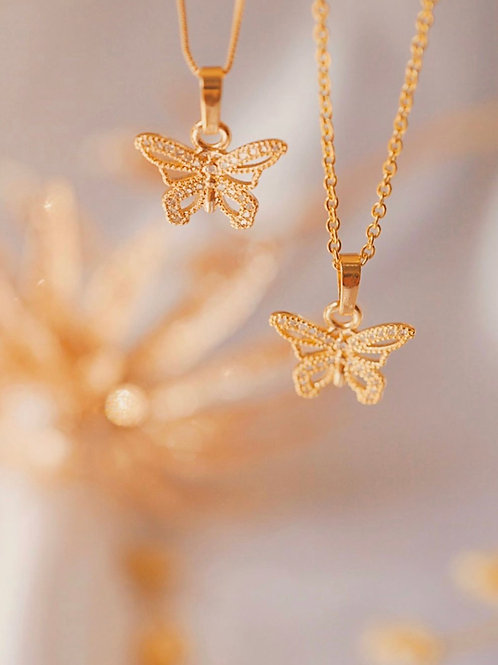 CAILA BUTTERFLY CHARM NECKLACE