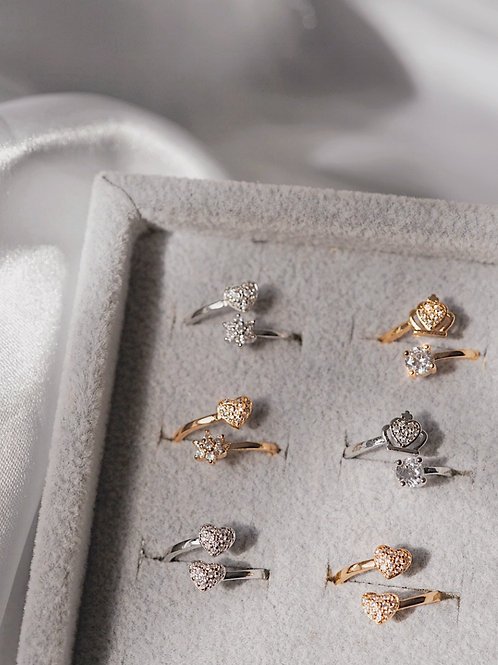 CZ ADJUSTABLE RINGS
