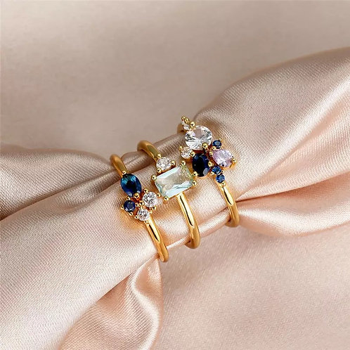 CZ ADELLA RING SET