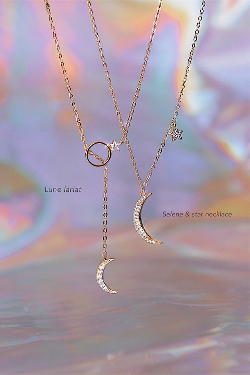 LUNE LARIAT & SELENE AND STAR NECKLACE