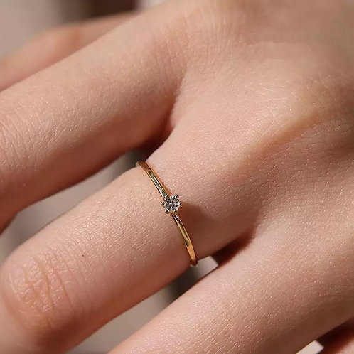 CZ CLASSIC SOLITAIRE RING