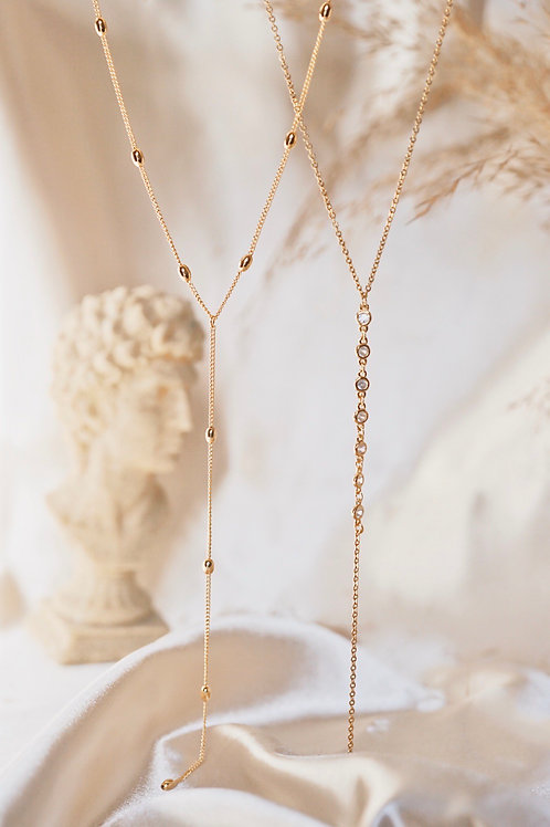 BALL CHAIN & CLASSIC DOLCE  LARIAT