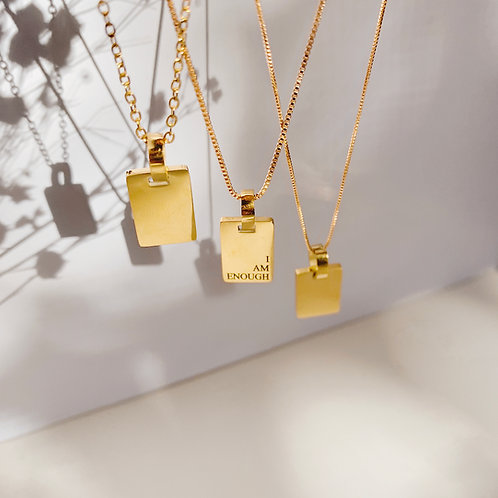 Personalized Tori Tag Necklace
