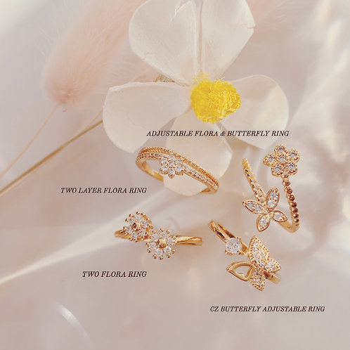 BUTTERFLY & FLORA RINGS