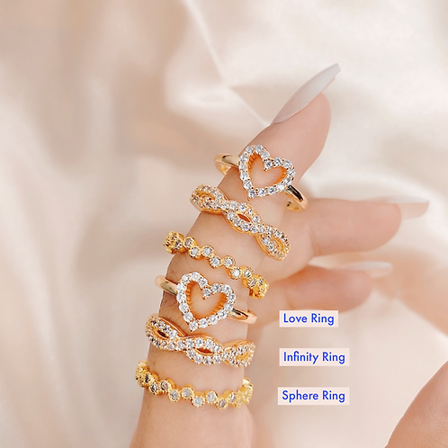 LOVE, INFINITY & SPHERE RING