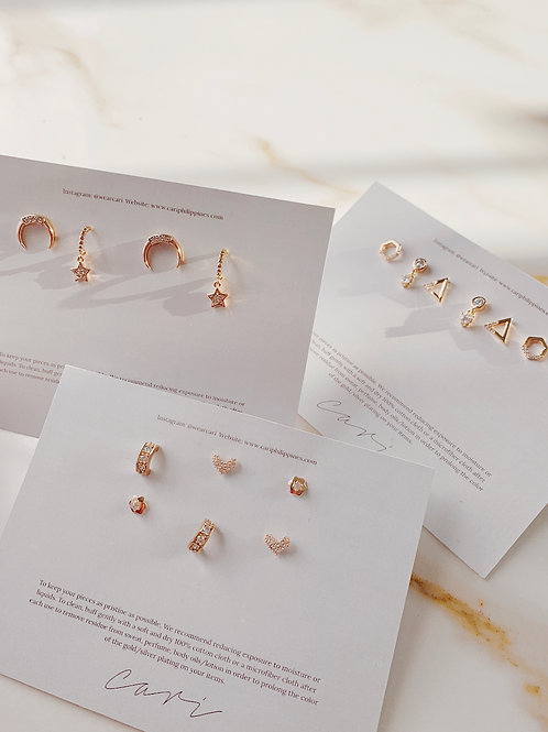 PAISLEY, CLEO AND LUNE EARRING SETS