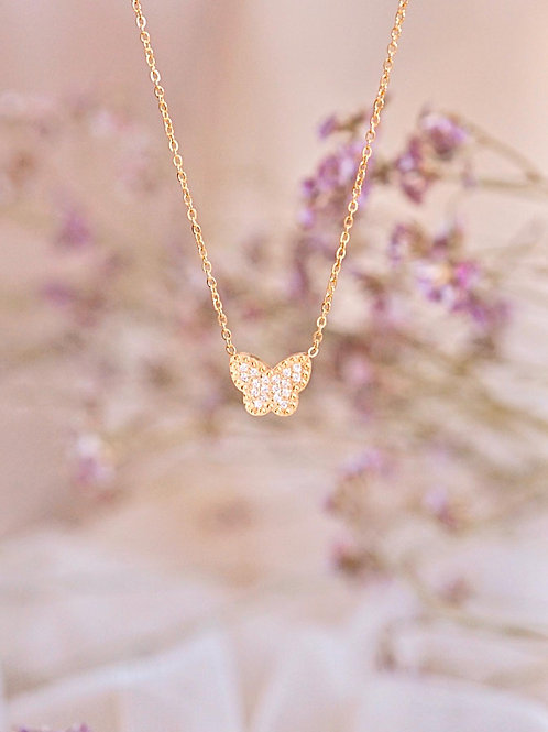 PETITE SADIE BUTTERFLY NECKLACE