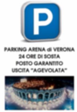 Prenotazione Ingresso Parking Arena Verona