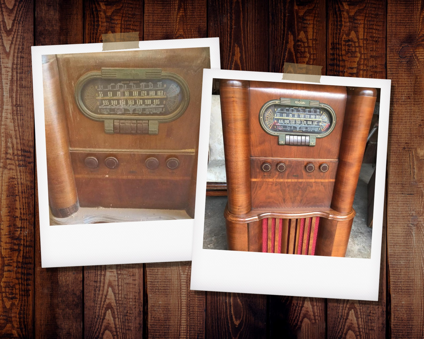Old Radio Refinishing