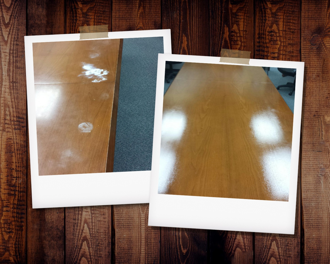 Water Ring Damage Conference Table