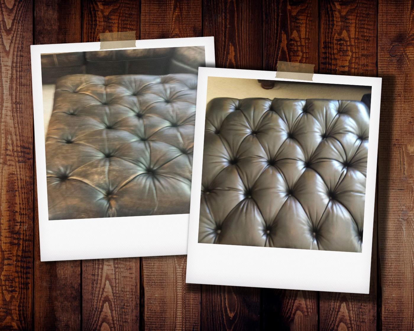 Restoring leather furniture color
