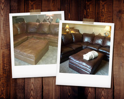 15 Year Old Leather Sectional