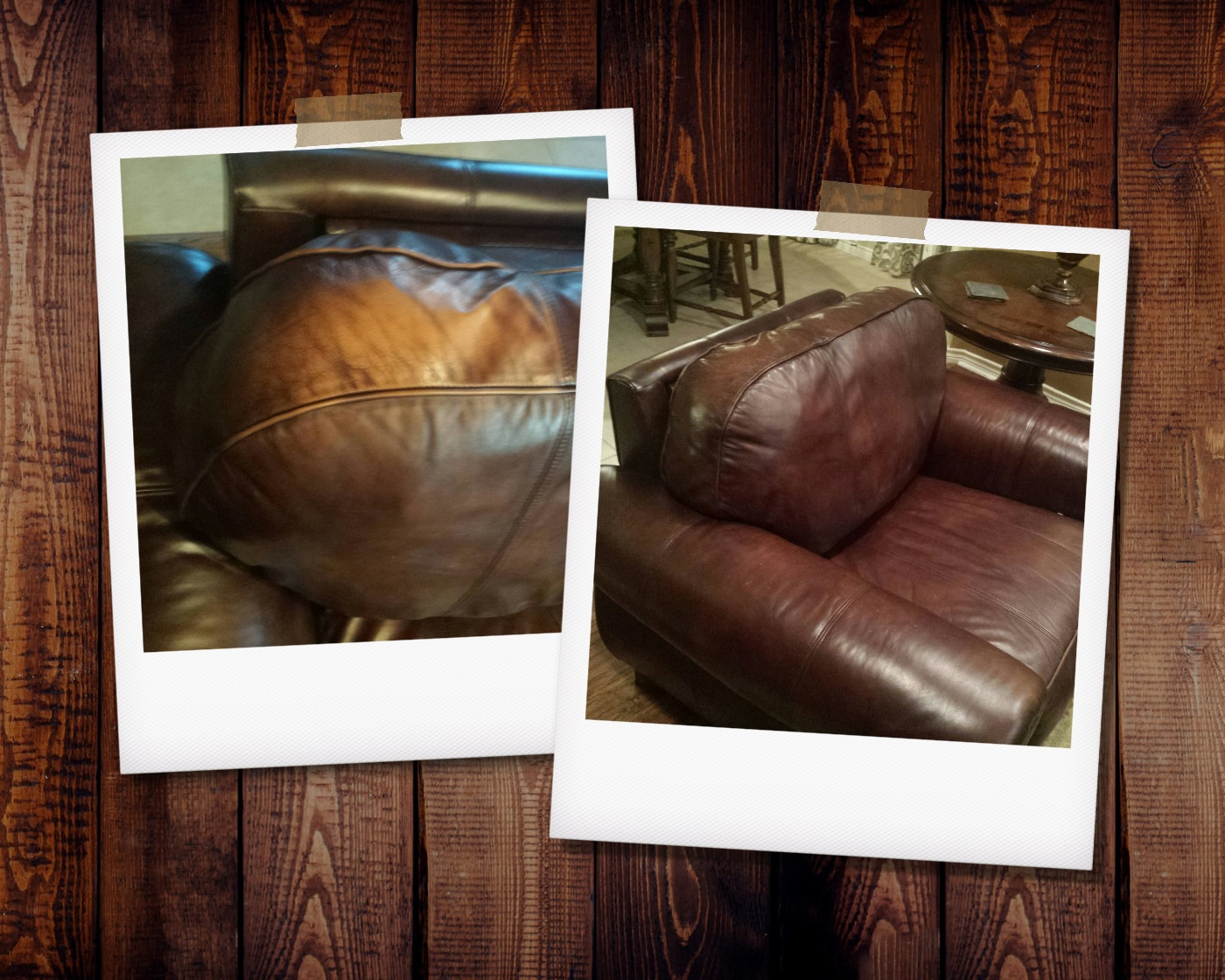 Faded Leather Chair Repair