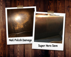 Nail polish remover damage