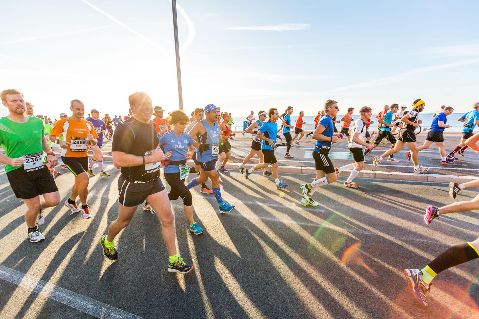 course a pied marathon runnig race