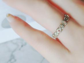 ピンクダイヤモンドのマーガレット ディアマンring