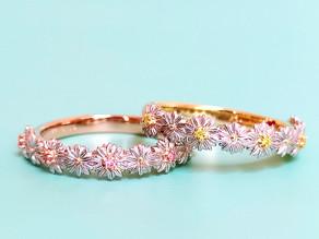 ピンクorイエローダイヤモンドのマーガレット ディアマンring
