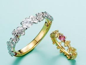 紫陽花の婚約指輪をママの指輪に.....♡