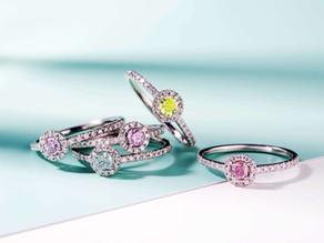 カラーダイヤモンドのひまわりring